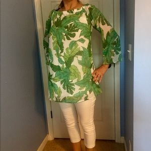 Tops - Women's Tropical Blouse by Love, Fire Size Large